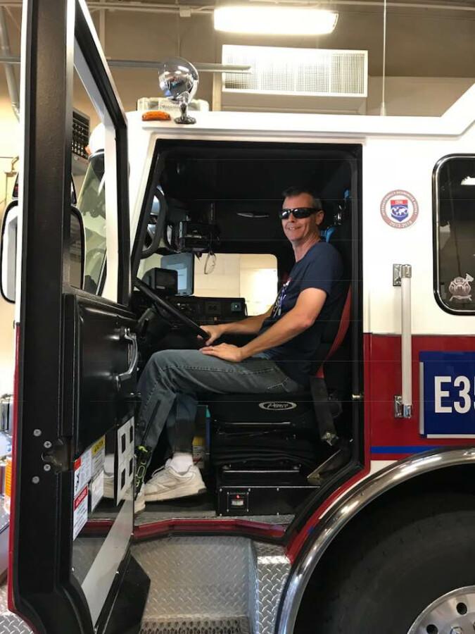 John in Fire Truck
