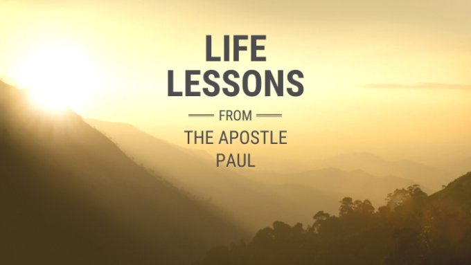 Life Lessons From The Apostle Paul : Start Doing Something
